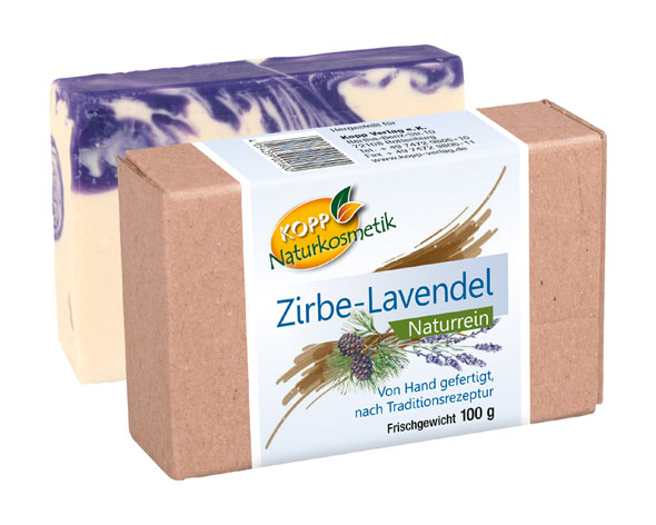 Kopp Naturkosmetik Zirben-Lavendelseife Frischegewicht 100g