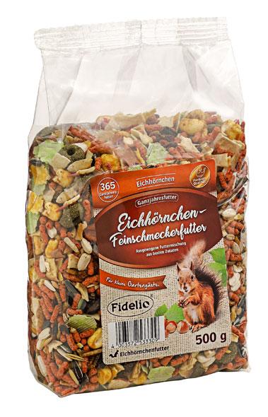 3er Pack Eichhörnchen Feinschmeckerfutter - je 500g