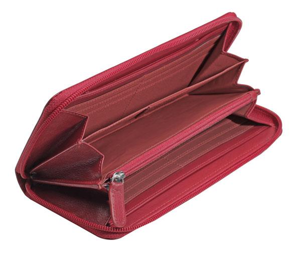Esquire RFID Damenlangbörse rot 19615 101