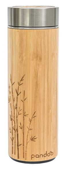 Bambus Thermobecher inklusive Teesieb
