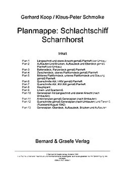 Planmappe: Schlachtschiff Scharnhorst - Mängelartikel