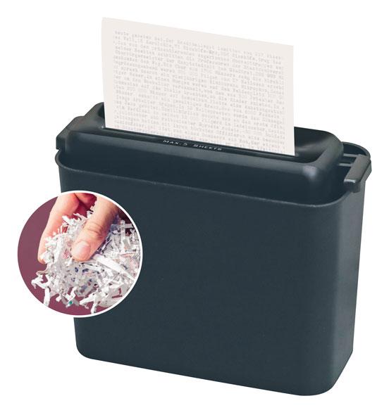 Aktenvernichter mit Papierkorb