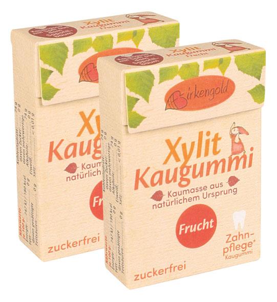 Birkengold ®  Xylit-Kaugummi Frucht