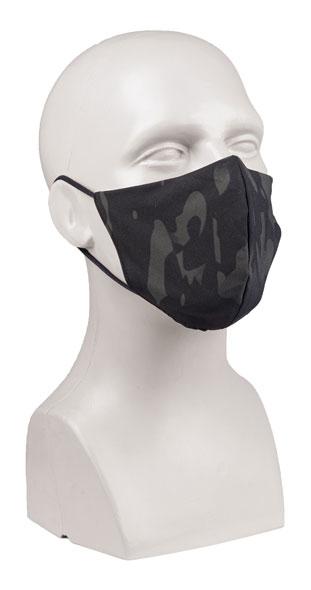 Mund/Nasenbedeckung V-Shape PES/EL - Multitarn/Schwarz