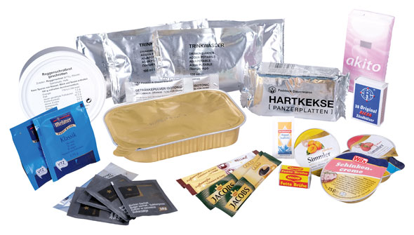 EPa Typ IV - Tagesration Geflügelhacksteaks mit Curry-Reis - Bundeswehr Standard