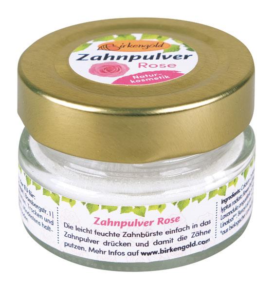 Birkengold® Zahnpulver Rose Glas mit 30 g