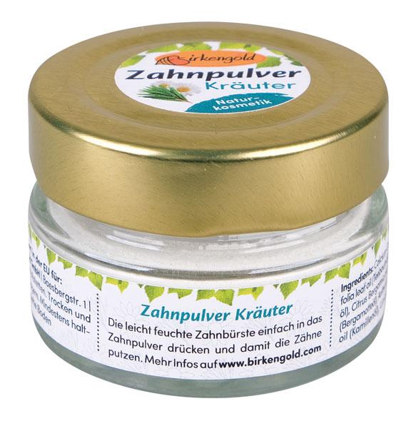 Birkengold® Zahnpulver Kräuter Glas mit 30 g