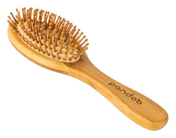 Pandoo Bambus-Haarbürste mit Naturborsten