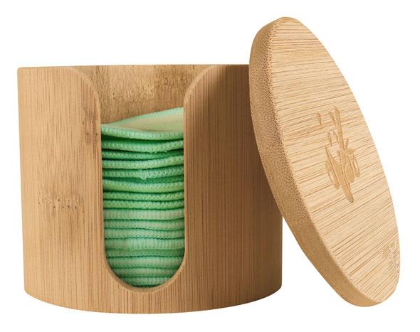 Pandoo wiederverwendbare Abschminkpads mit Aufbewahrungsbox aus Bambus