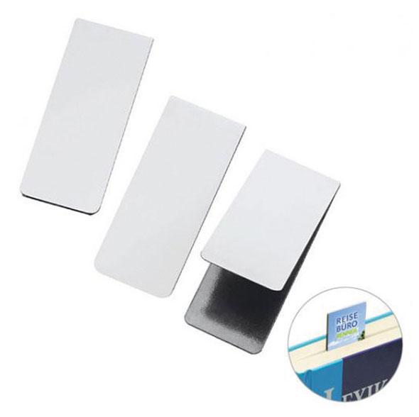 Magnet-Lesezeichen weiß - 5er-Pack