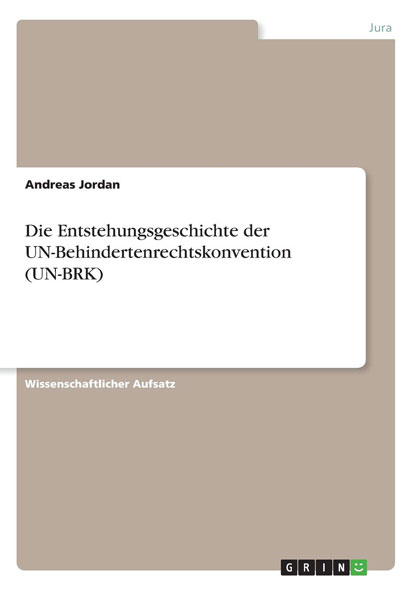 Die Entstehungsgeschichte der UN-Behindertenrechtskonvention - Mängelartikel
