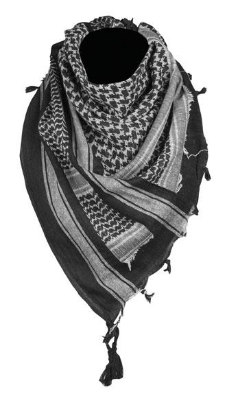 Mil-Tec® Halstuch Shemagh 110 x 110 cm - Schwarz/Weiß