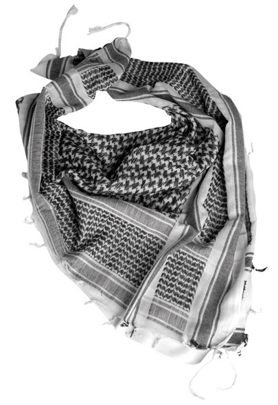 Mil-Tec® Halstuch Shemagh 110 x 110 cm - Weiß/Schwarz