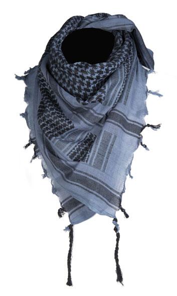 Mil-Tec® Halstuch Shemagh 110 x 110 cm - Blau/Schwarz