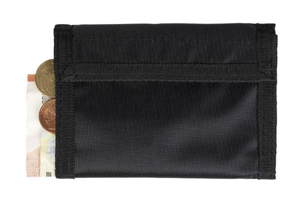 Geldbörse mit Klettverschluss - Schwarz