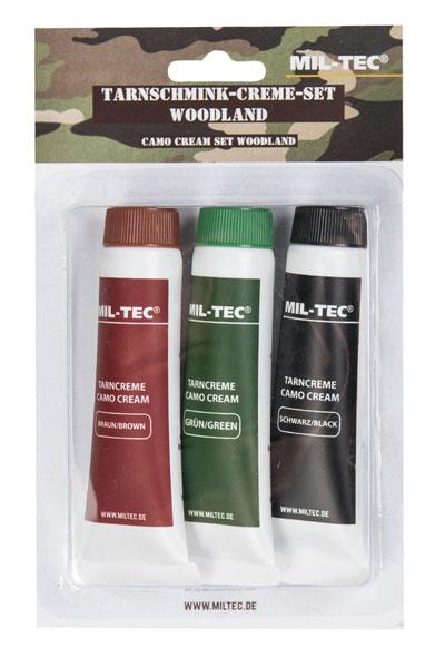 Mil-Tec® Tarnschmink-Creme-Set woodland