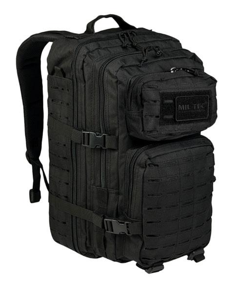 US Assault Pack Rucksack Laser Cut - groß - Schwarz