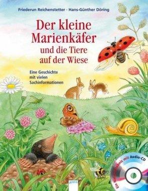 Der kleine Marienkäfer und die Tiere auf der Wiese, m. Audio-CDs