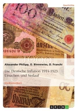 Die Deutsche Inflation 1914-1923. Ursachen und Verlauf