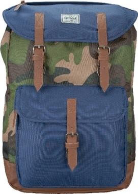 LIGHTPAK Rucksack The Passenger, camouflage/blau