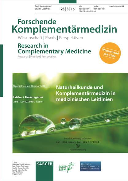 Naturheilkunde und Komplementärmedizin in medizinischen Leitlinien